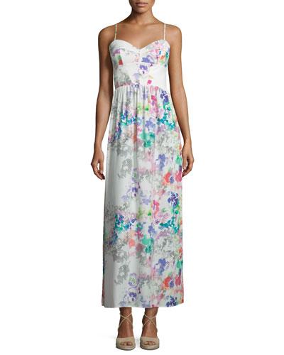 Mai Tai Sleeveless Maxi Dress, Waterfall Floral