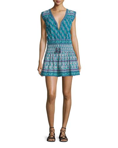 Samandi Sleeveless Split-Neck Dress, Seasalt