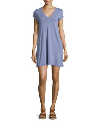The V-Neck Trapeze Dress, Persian Violet