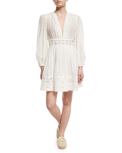 Realm Embroidered-Panel Dress