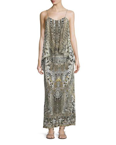 Embellished Layered Maxi Dress, Espiritu