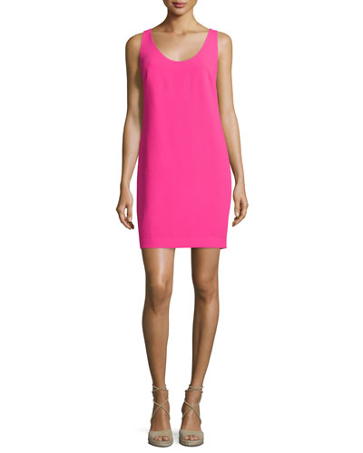 Sleeveless Crossover-Back Sheath Dress