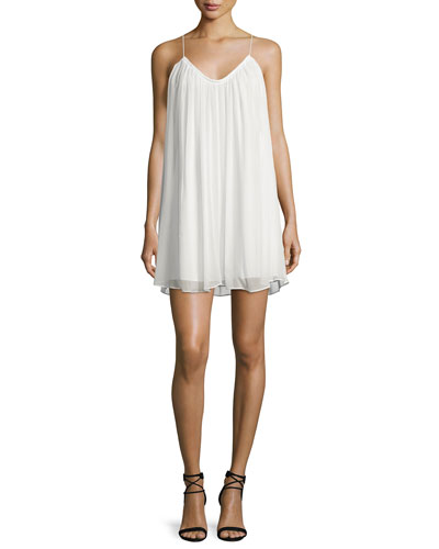 Malie Sleeveless A-Line Dress, Ivory