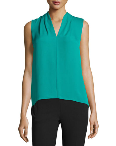Judith Sleeveless Georgette Blouse, Cricket