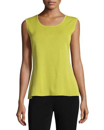 Plus Size Scoop-Neck Tank, Sour Apple