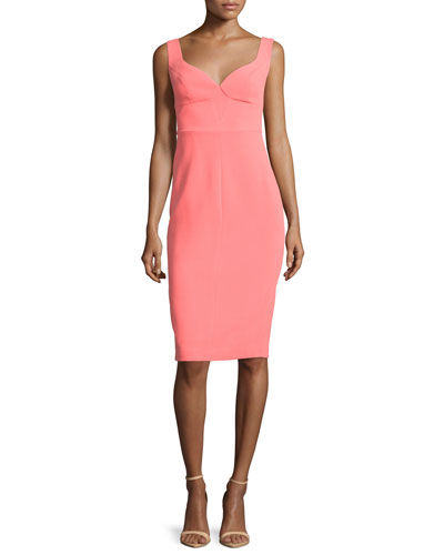 Sleeveless Sweetheart-Neck Sheath Dress, Fiji