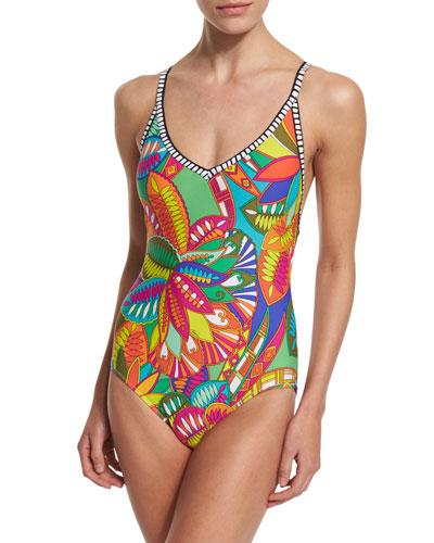 Montezuma Printed One-Piece Swimsuit