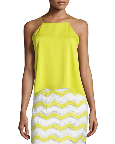 High-Low Trapeze Tank, Citron