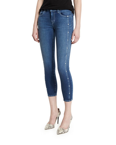 Alba Mid-Rise Skinny Cropped Jeans, Felicity