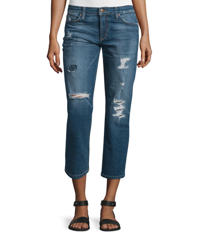 The Ex-Lover Distressed Cropped Jeans, Nicola