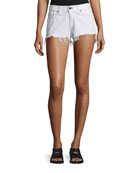 Cutoff Denim Shorts, White Freeport