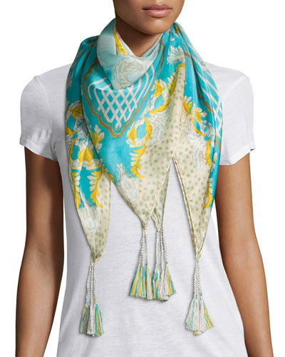 Echo Printed Silk Scarf