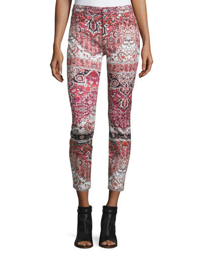 The Ankle Printed Skinny Jeans, Olympia Mosaic