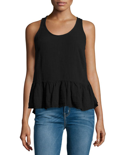 The Ballet Tank Top, Washed Black