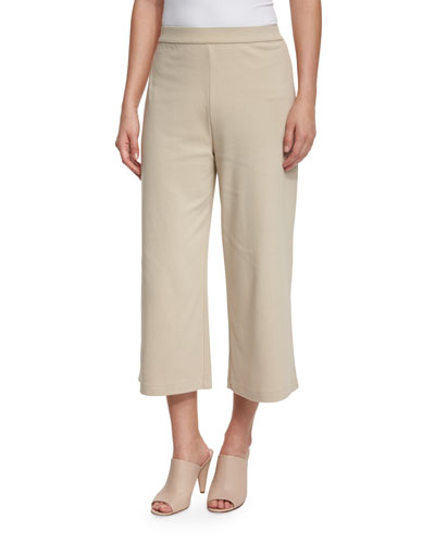 Cropped Wide-Leg Pants, New Linen