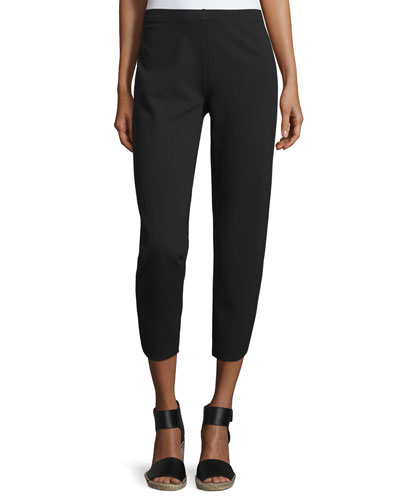 Ponte Ankle Pants, Black