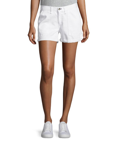 Carpenter Cuffed Shorts, Aged Bright White