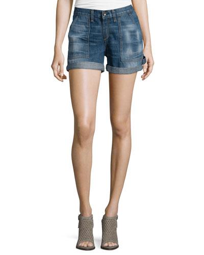 Carpenter Cuffed Shorts, Lanley