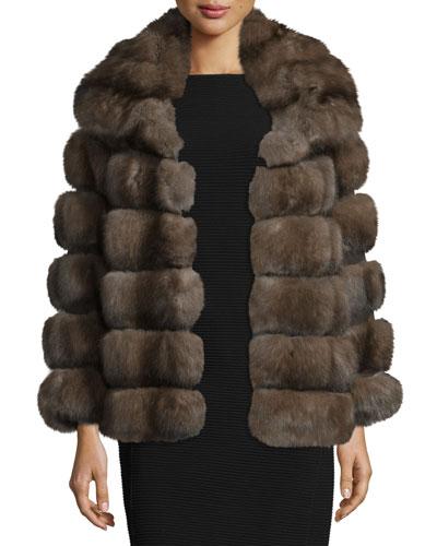Sable Fur Jacket, Natural