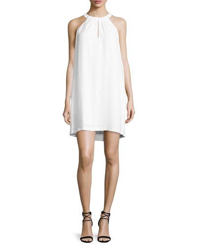 Tristyn Sleeveless Keyhole Dress, White