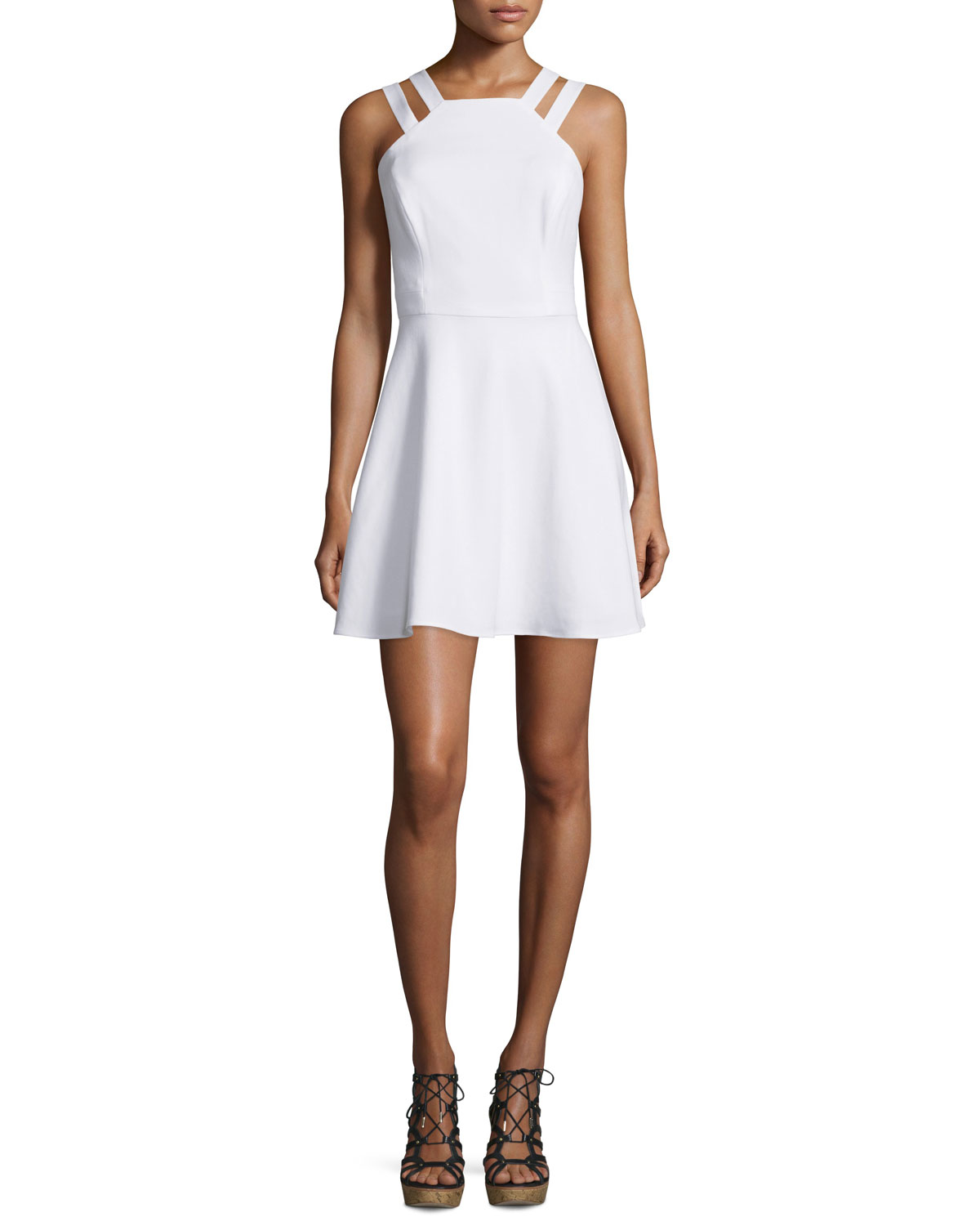 Whisper Light Sleeveless Dress, White