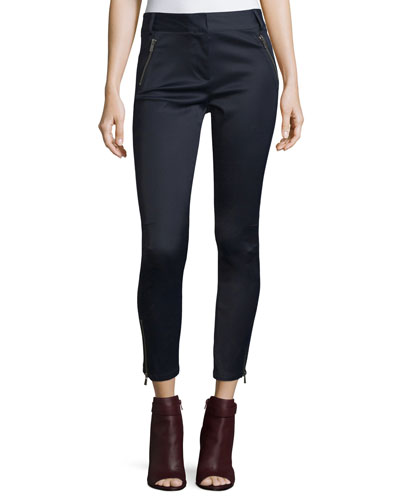 Surf Cropped Skinny Pants, Navy