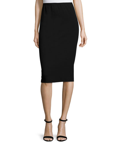 Black Viscose Pencil Skirt | Neiman Marcus