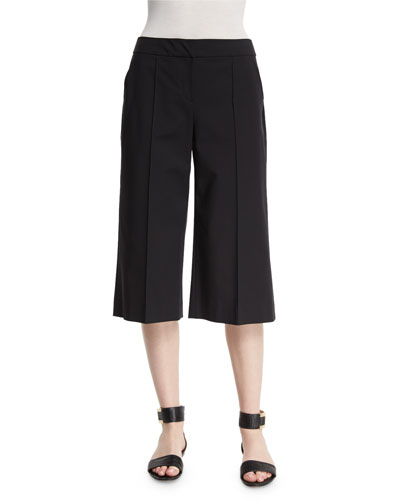 Kenmare Cropped Crepe Culottes, Plus Size