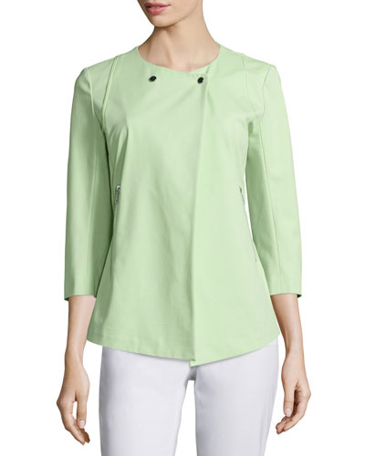 Dayle 3/4-Sleeve Jacket, Mint
