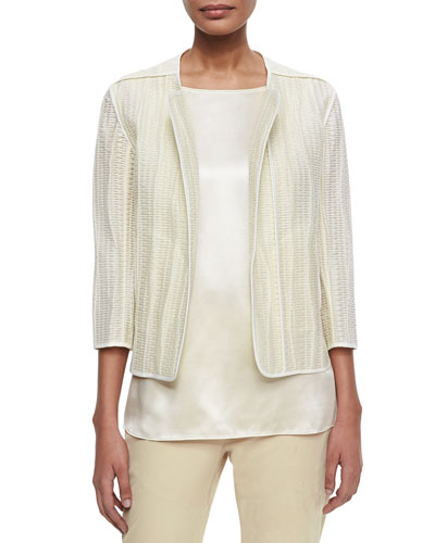 Charlane Textured Open Topper Jacket