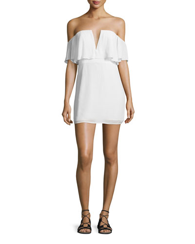 Primrose Off-The-Shoulder Dress, Ivory