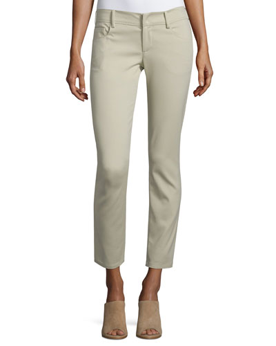 Low-Rise Skinny Cropped Pants, Tan