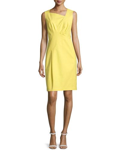 Melanie Sleeveless Sheath Dress, Citron