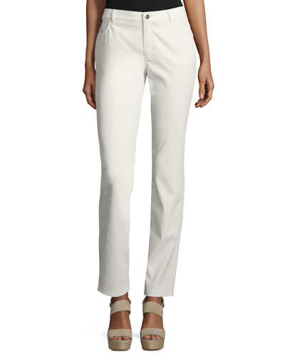 Thompson Waxed Denim Slim-Leg Slim-Leg Jeans, Plus Size