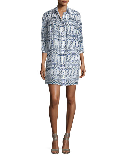 Rylie Diamond Dots Shirtdress