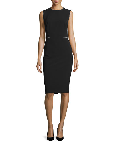 Marilyn Sleeveless Sheath Dress, Black