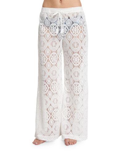 La Vie Boheme Crocheted Coverup Pants