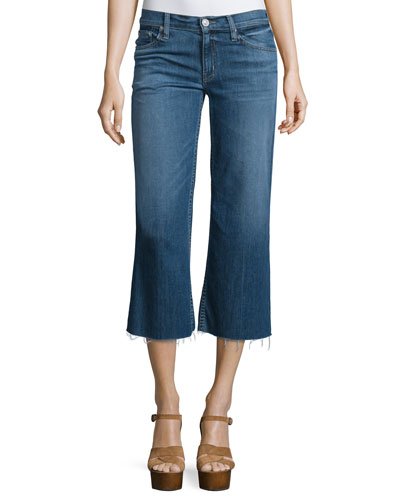 Sammi Flare-Leg Cropped Jeans, Stingray