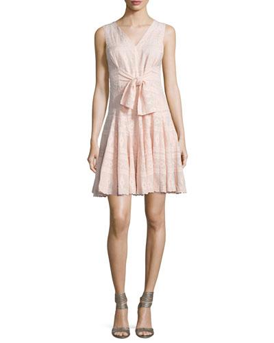 Embroidered Sleeveless Gauze Dress