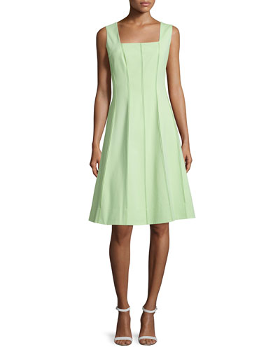 Adelaide Sleeveless Fit-&-Flare Dress, Mint