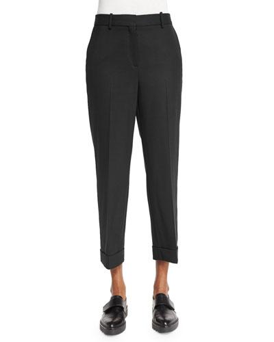 Heze Contour Cropped Pants, Black