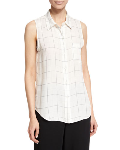 Yarine Tile-Print Sleeveless Top