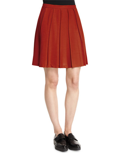 Tillberti Winslow Pleated Crepe Skirt