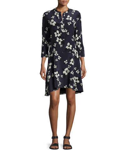 Carstan Autumn Printed Silk Dress