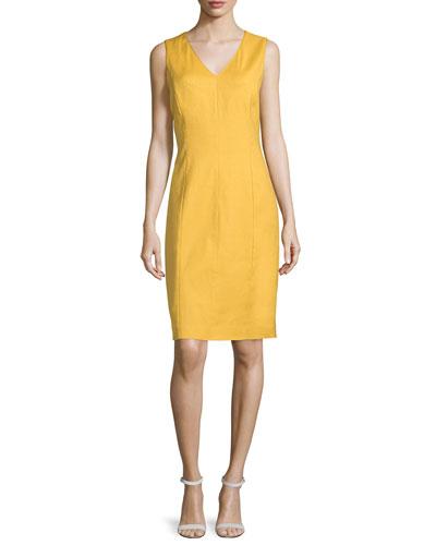 Charisma Sleeveless Sheath Dress, Goldenrod
