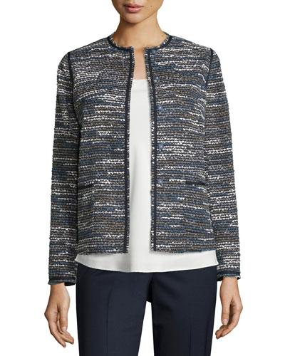 Leela Boucle Topper Jacket, Bluenote Multi