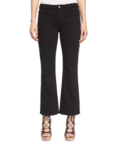 Le Crop Mini Boot-Cut Jeans, Film Noir