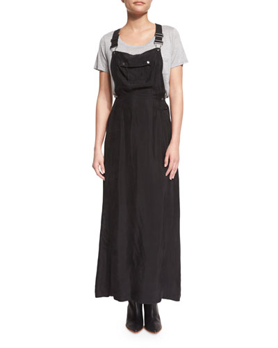 Le Cupro Overall Maxi Dress, Noir