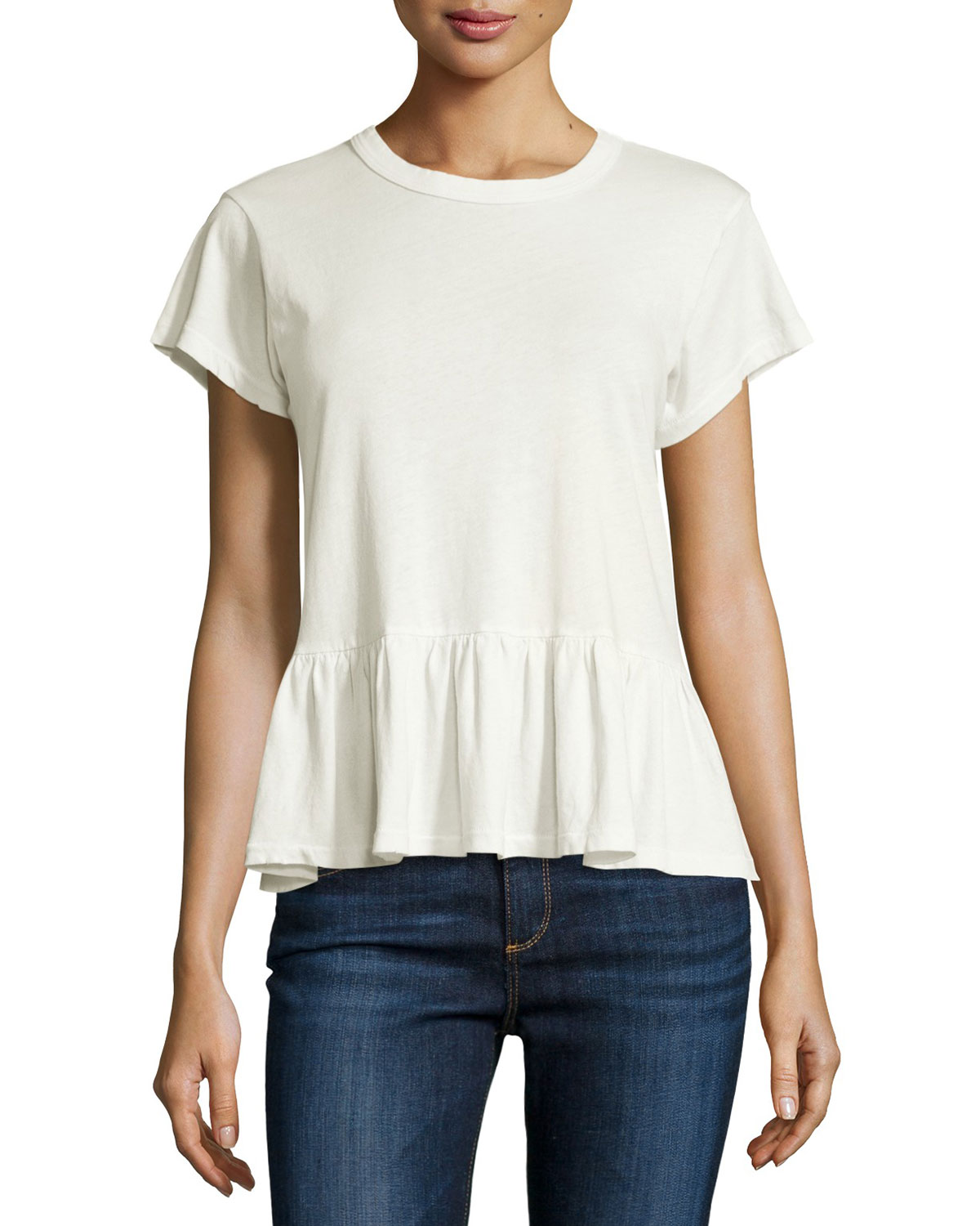 The Ruffle Washed Tee