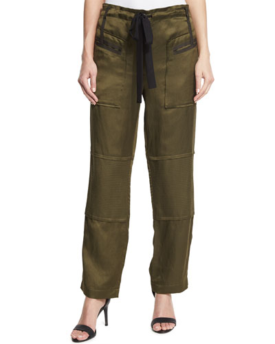 Bode Drawstring Cargo Pants, Military